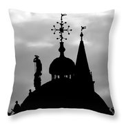 Church Spires Silhouetted Bw Throw Pillow