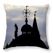 Church Spires Silhouettes Throw Pillow
