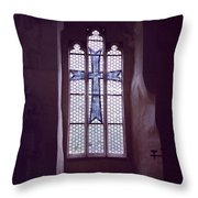 Church Stained Glass Window 2 Throw Pillow