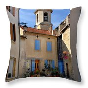 Church Steeple In Provence Throw Pillow