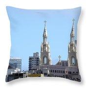 Church Top San Francisco Throw Pillow