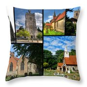 Churches Of Hillingdon Throw Pillow