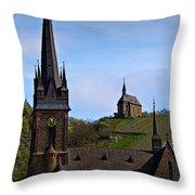 Churches Of Lorchhausen - Color Throw Pillow