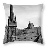 Churches Of Lorchhausen Bw Throw Pillow