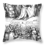 Church/state Cartoon, 1870 Throw Pillow