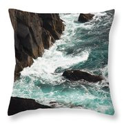 Churning Ocean Throw Pillow