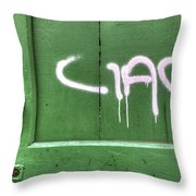 Ciao Throw Pillow by Joana Kruse