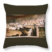 Cicero In Senate Throw Pillow