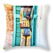 Cigar Store Indian - New Orleans Throw Pillow