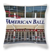 Cincinnati Great American Ball Park Entrance Sign Throw Pillow