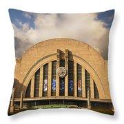 Cincinnati Museum Union Terminal Throw Pillow