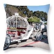 Cinderella Carriage Throw Pillow