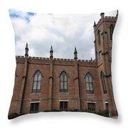 Circa 1818 Gothic 1st Presbyterian Church Huntsville Alabama Usa Throw Pillow