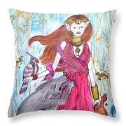 Circe The Sorceress Throw Pillow