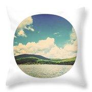 Circle Lake Throw Pillow