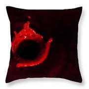 Circle Of Blood Throw Pillow