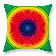 Circle X-ray Throw Pillow