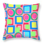 Circles And Squares Throw Pillow
