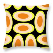 Circles Throw Pillow by Louisa Knight