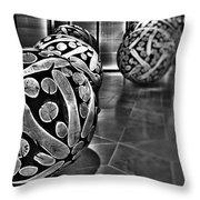 Circles Of Wood Throw Pillow