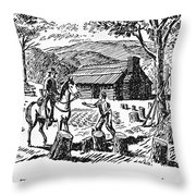 Circuit Rider Throw Pillow by Granger