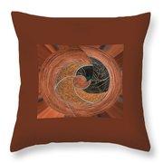 Circular Koin Throw Pillow by Jean Noren