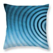 Circular Ripples Throw Pillow