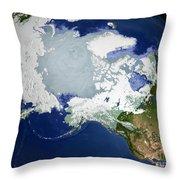 Circum-arctic Permafrost Throw Pillow