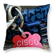 Cisco's Gear Throw Pillow