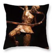 Citius Altius Fortius Olympic Art Gymnast Over Black Throw Pillow by Adam Long
