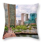 City - Baltimore Md - Harbor Place - Baltimore World Trade Center  Throw Pillow