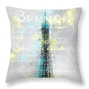 City-art Paris Eiffel Tower Letters Throw Pillow