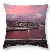 City At Dusk Throw Pillow