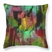 City At Night Throw Pillow by Jack Zulli