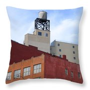 City Buildings On Bowery Throw Pillow