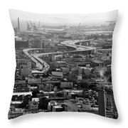 City By The Bay Throw Pillow by Valeria Donaldson