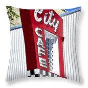 City Cafe Throw Pillow