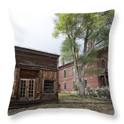 City Drug Store And Hotel Meade - Bannack Montana Ghost Town Throw Pillow