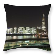 City Hall And Hms Belfast Throw Pillow