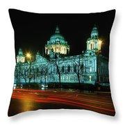 City Hall, Belfast, Ireland Throw Pillow