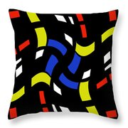 City Lights Abstract Throw Pillow