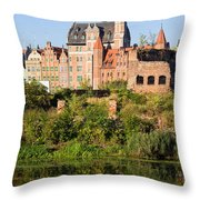 City Of Gdansk Throw Pillow