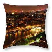 City Of Light Throw Pillow by Elena Elisseeva