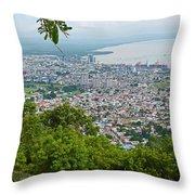 City Of Port Of Spain Trinidad 3 Throw Pillow