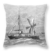 City Of Ragusa, 1870 Throw Pillow