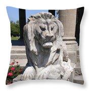 City Park Guardian Throw Pillow