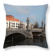 City Scenes From Amsterdam Throw Pillow