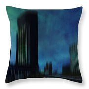 City Shapes Melbourne I Throw Pillow