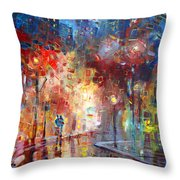 City Street Throw Pillow