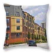 City Street Intersection Throw Pillow